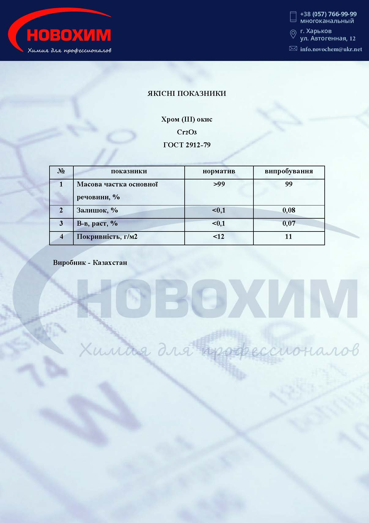 Хром оксид